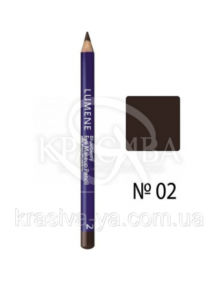 LU Blueberry Eye Makeup - Карандаш для век с черникой (02-коричневый), 1,1 г : Lumene