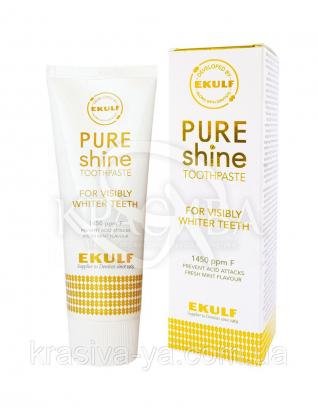 Отбеливающая зубная паста Ekulf Pure Shine, 2 * 75 мл