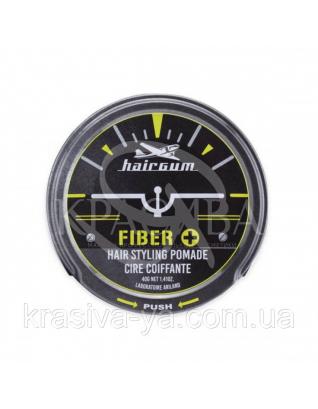 Hairgum Fiber + Hair Styling Pomade Помада для стайлинга на водяной основе с ароматом цветка кактуса,  40 г : Средства для стайлинга