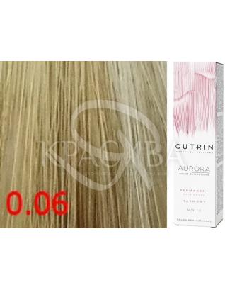 Cutrin Aurora Permanent Color - Аммиачная краска для волос 0.06 Платиновый перламутр, 60 мл