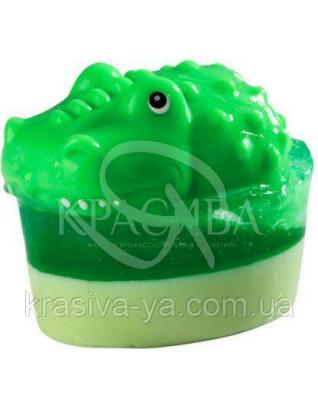 Глицериновое детское мыло Крокодил / Большая игрушка, 80 г : Для детей