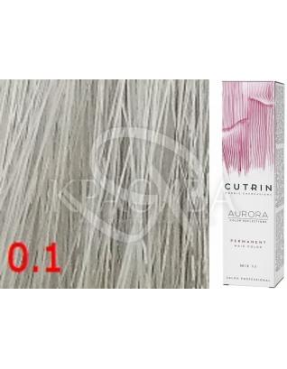 Cutrin Aurora Permanent Color - Аммиачная краска для волос 0.1 Спокойный синий, 60 мл