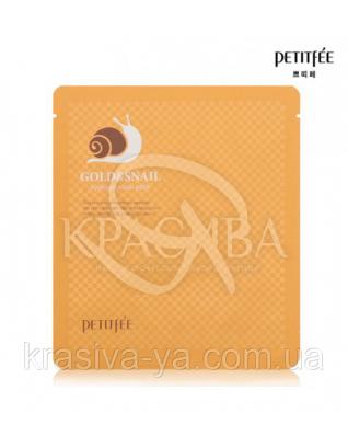 Гідрогелева маска для обличчя з золотом і равликом PETITFEE Gold & Snail Hydrogel Mask,2шт х 30г : PETITFEE