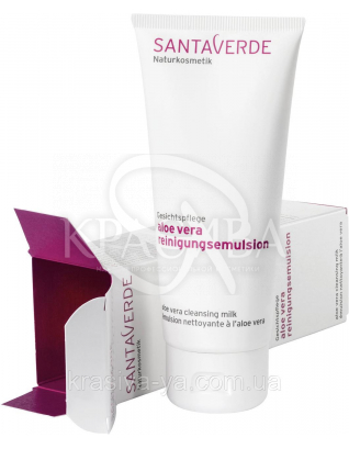 SV Молочко для умывания с Алоэ Вера очищающее без запаха/Aloe Vera Cleansing Milk Fragrance, 100 мл : SantaVerde