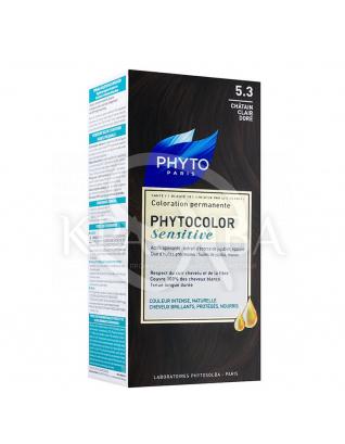 Фитоколор Сенситів крем-фарба для волосся на основі натуральних барвників 5.3 шатен світлий золотистий : Phyto