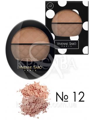 VS Teinte Delicate - Румяна двойные (12-персиковый/светло-коричневый), 2 г + 3 г : Макияж для лица