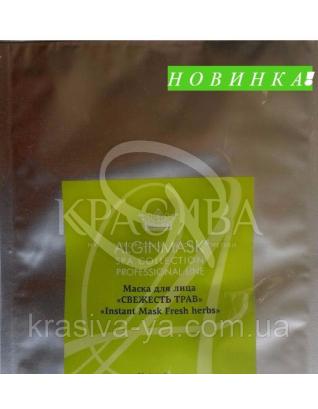 "Маска для обличчя ""Свіжість Трав"" (Новинка) - ""Instant mask Fresh herbs"", 15 г : AlginMask"
