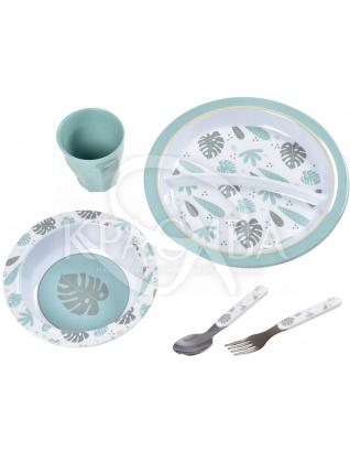 Набір посуду з меламіну синій 5 предметів : Beaba