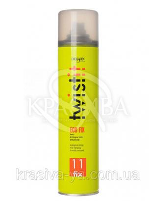 Twistit 8 Eco Fix Экологический лак, без газа. Объем и блеск, содержит УФ-фильтры 3 с.ф., 350 мл : Лак для волос
