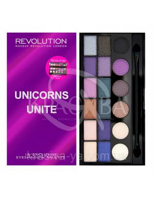 MUR Salvation Palette - Палетка з 18 відтінків тіней (Unicorns Unite), 13 р : Makeup Revolution
