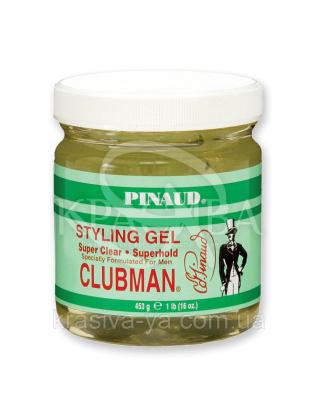 Над-прозорий гель для укладання волосся Clubman Super Clear Gel, 453 р : Clubman