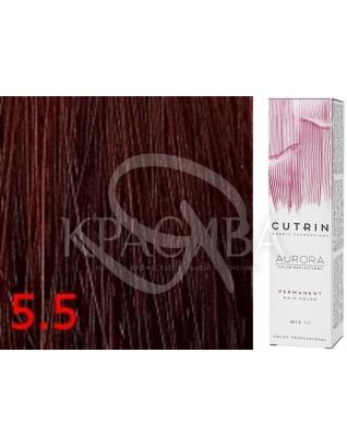 Cutrin Aurora Permanent Color - Аммиачная краска для волос 5.5 Бархатная ночь, 60 мл