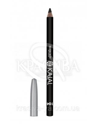 """Косметический карандаш для глаз """"Kajal Pencil"""" 104 Black, 1.5 г"""