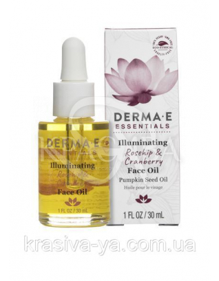 Засіб для сяйва шкіри з маслом шипшини і журавлини-Illuminating Rosehip&Cranberry Face Oil, 30 мл : Масло для обличчя