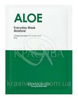 Щоденна зволожуюча маска для обличчя з Алое Віра Boom De Ah Dah Everyday Mask Aloe Vera, 10 шт * 25 г : Boom De Ah Dah