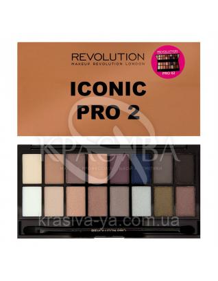 MUR Salvation Palette - Палетра з 16 відтінків тіней (Iconic Pro 2), 16 р : Makeup Revolution