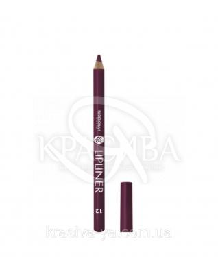 "Косметический карандаш для губ Lip Liner ""New Color Range"" 12 Purple, 1.5 г : Карандаш для губ"