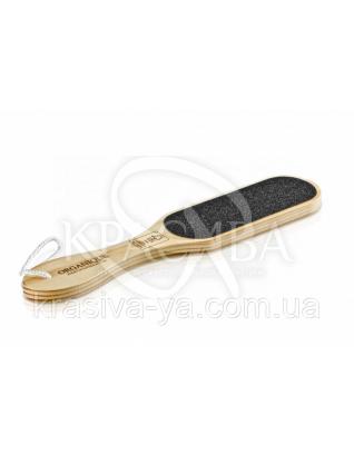 Терка дерев'яна для ступень ніг з логотипом - Natural Світло-коричневий, 1 шт : Аксесуари для ванної