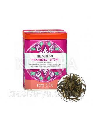 TdO Органический зеленый чай со вкусом малины и личи / Organic Raspberry Lychee Flavoured Green Tea, 100 г : Органический чай
