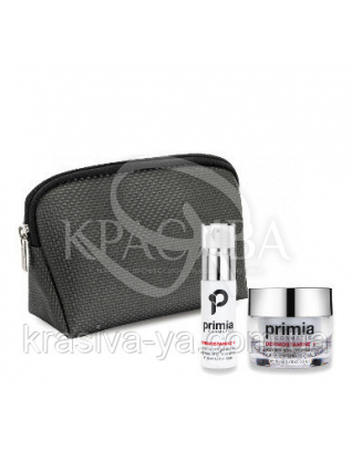 Dermostamine+ Face Serum + Cream + Pochette + Box - Відновлюючий набір для особи, 50мл+30мл+косметичка : Primia Cosmetici