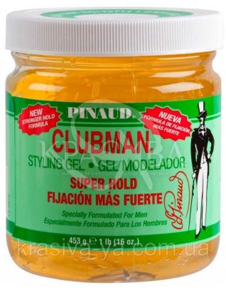 Гель для укладання волосся супер фіксації Clubman Super Hold Styling Gel, 453 р : Clubman
