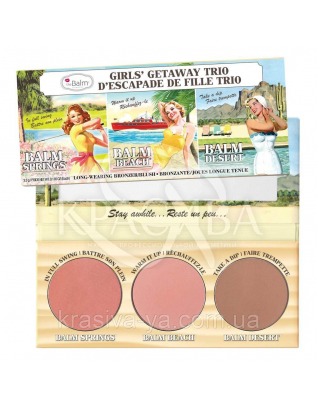 The Balm Palettes Girls' Getaway Trio - Палетка румян для лица, 6.39 г : Палетки