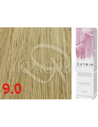 Cutrin Aurora Permanent Color - Аммиачная краска для волос 9.0 Очень светлый блондин, 60 мл