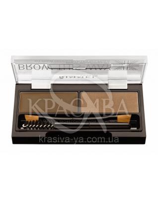 RM Brow This Way - Набор для моделирования бровей (002-Mid Brown / средне-коричневый), 1,1 г + 1,3 г : Beauty-наборы для макияжа