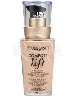 """Тональна основа для особи вельветовий """"Comfort Lift"""" 01 Fair, 30 мл : Тональний крем"""