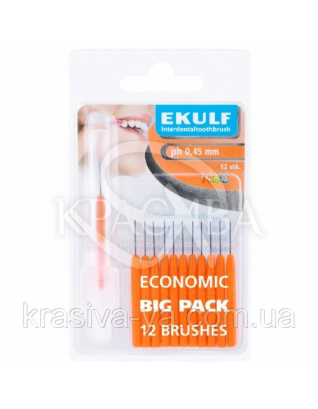 Щетки для межзубных промежутков Ekulf Ph 0,45 мм, 2 уп * 12 шт