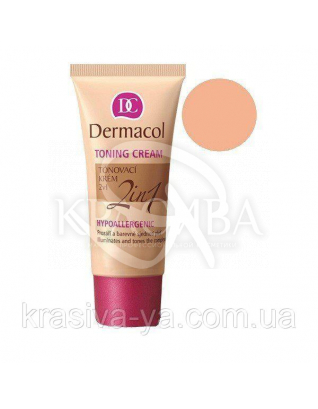 DC Make-up Toning Cream 2in1 Natural Тональний крем легкий зволожуючий 2в1, 30 мл : Тональний крем