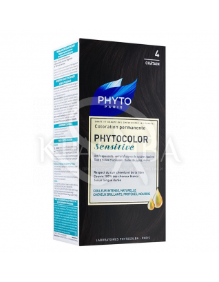 Фитоколор Сенситів крем-фарба для волосся на основі натуральних барвників 4 шатен : Phyto