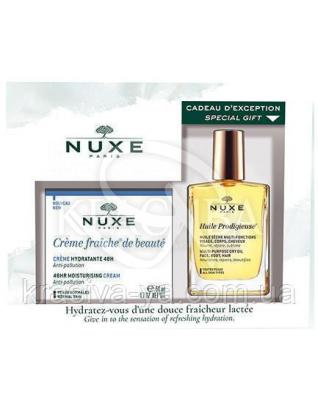 Набор Крем-Фреш насыщенный крем 50 мл + Чудесное сухое масло 30 мл : Nuxe