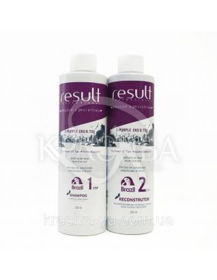 Мини набор 2-Purple EKO Подготовительный шампунь + Интенсивный термо реконструктор ( Шаг1 + Шаг 2), 2*250 мл : Ботокс для волос