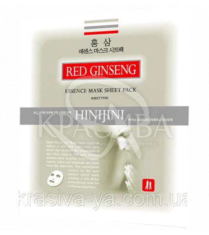 Омолаживающая маска от морщин с женьшенем HINI JINI, 5шт * 20г - 1