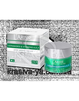 Крем против морщин с церамидамии витаминами А,Е,F 40+ - Anti-Cream/Plant Geramides+Vit.40+, 50 мл : Крем для лица