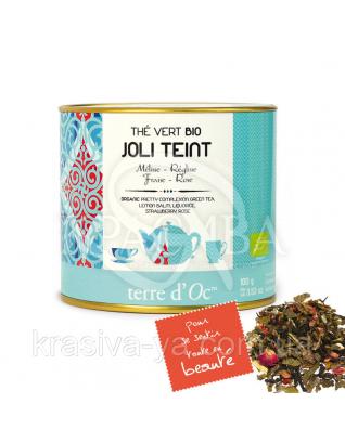 TdO Органический зеленый чай для улучшения тонуса кожи ( мелиса, лакрица, клубника, роза ), 100 г : Органический чай