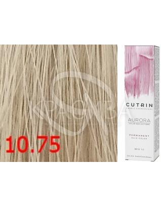 Cutrin Aurora Permanent Color - Аммиачная краска для волос 10.75 Шампанское, 60 мл