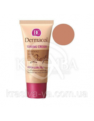 DC Make-up Toning Cream 2in1 Caramel Тональний крем легкий зволожуючий 2в1, 30 мл : Тональний крем