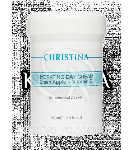 """Зволожуючий денний крем """"Зелене яблуко"""" з вітаміном Е для нормальної і сухої шкіри Hydrating Day Cream, 250мл - 1"""