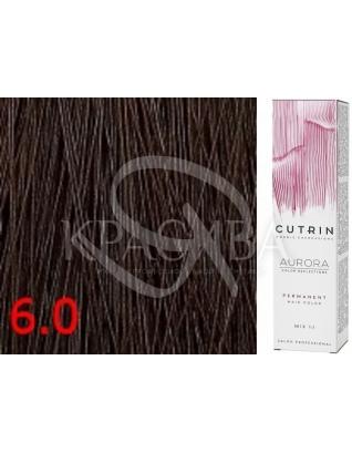 Cutrin Aurora Permanent Color - Аммиачная краска для волос 6.0 Темный блондин, 60 мл