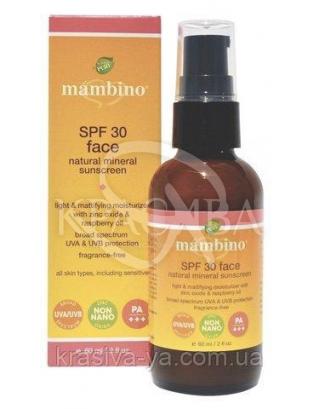 MAM Натуральний мінеральний сонцезахисний крем для обличчя SPF30/Face Natural Mineral Sun : Mambino Organics