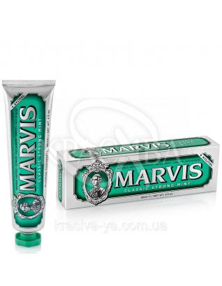 Marvis Classic Strong Mint - Зубная паста Классическая интенсивная, 85 мл