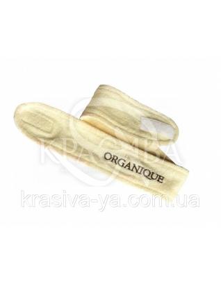 Бандана-пов'язка на голову махрова з логотипом / колір Ваніль, 1 шт : Аксесуари для ванної