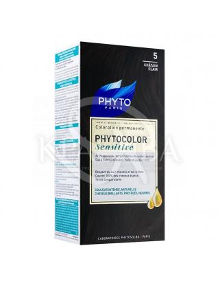 Фитоколор Сенситів крем-фарба для волосся на основі натуральних барвників 5 світлий шатен : Phyto