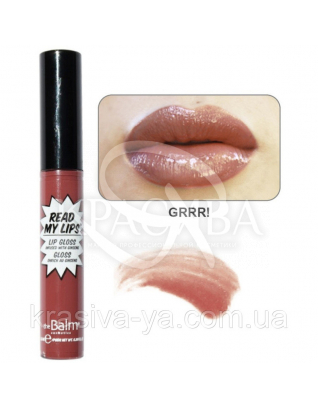 The Balm Read My Lips Lip Gloss Grrr !- Nude Mauve - Блиск для губ, 6.5 мл : TheBalm