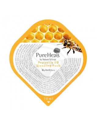 Маска нічна зволожуюча для особи з екстрактом прополісу : PureHeal's