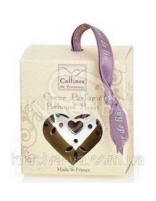 """CP Ароматизатор воздуха интерьерный в форме маленького сердца, аромат """"Нежный кашемир"""" : Collines de Provence"""