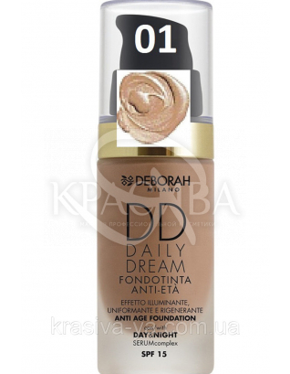 "Тональна основа ""DD Daily Dream Anti Age"" 04 Apricot, 30 мл :"