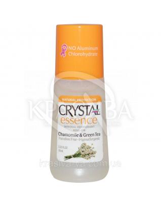 Crystal Essence Deodorant Chamomile&Green Tea Roll-on - Роликовий дезодорант (ромашка і зелений чай), 66 мл : Дезодоранти